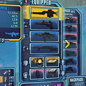 Borderlands 2 Sir Hammerlock's Big Game Hunt - Equipment Inventory