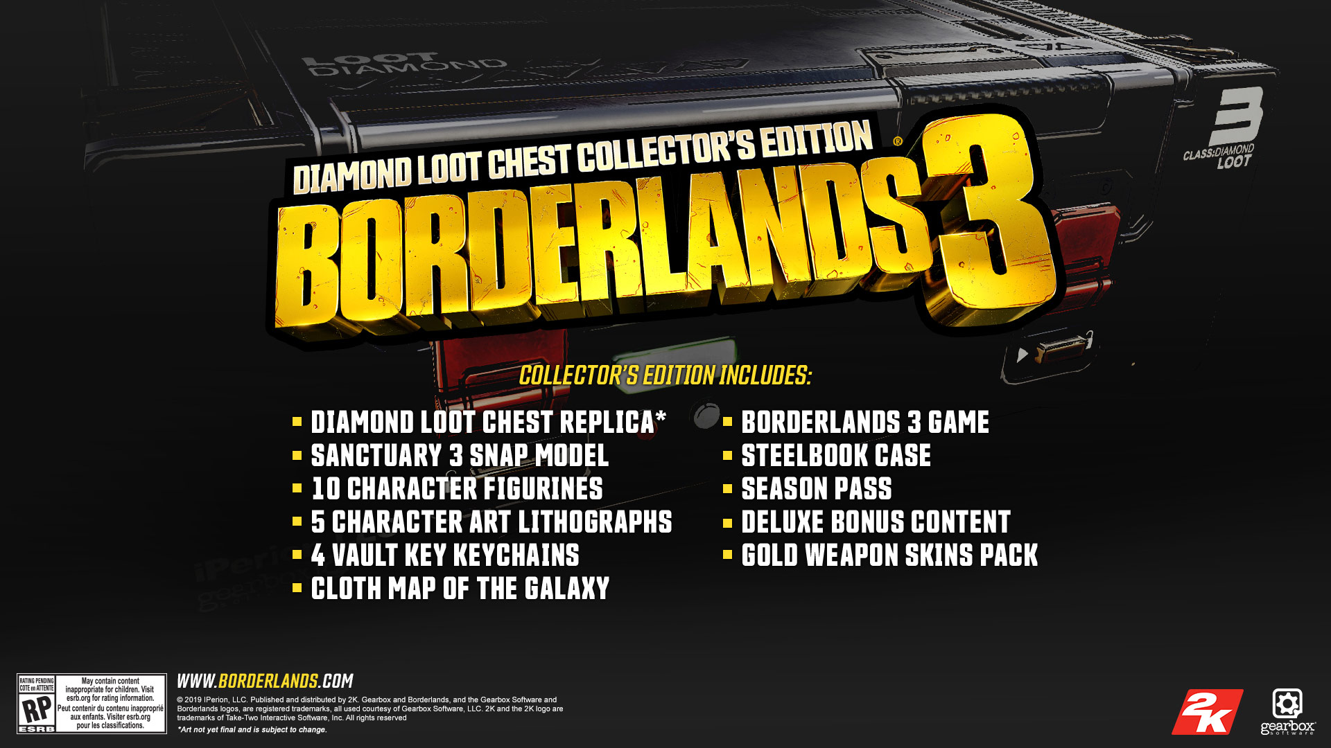 Borderlands 3 Diamond Loot Chest Collector's Edition