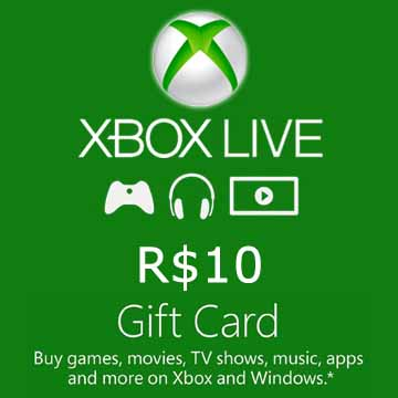 Buy 10 BRL Gift Card Xbox Live Code Compare Prices
