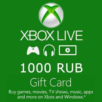 1000 RUB Gift Card
