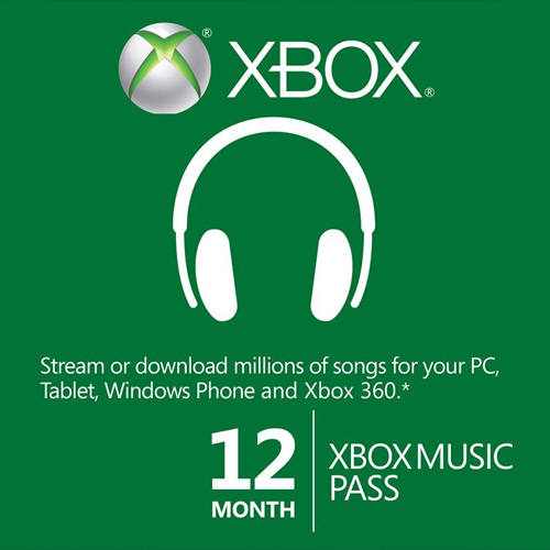 12 Month Xbox Music Pass