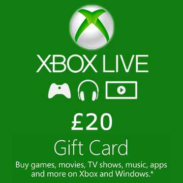 Buy 20 GPB Gift Card Xbox Live Code Compare Prices