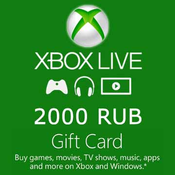 Buy 2000 RUB Gift Card Xbox Live Code Compare Prices