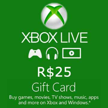 Buy 25 BRL Gift Card Xbox Live Code Compare Prices