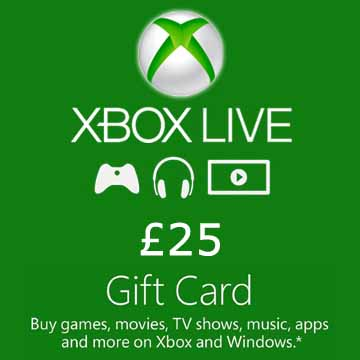 Buy 25 GPB Gift Card Xbox Live Code Compare Prices
