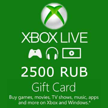 Buy 2500 RUB Gift Card Xbox Live Code Compare Prices