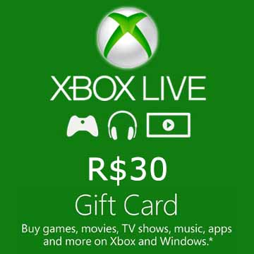 Buy 30 BRL Gift Card Xbox Live Code Compare Prices