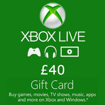 Buy 40 GPB Gift Card Xbox Live Code Compare Prices