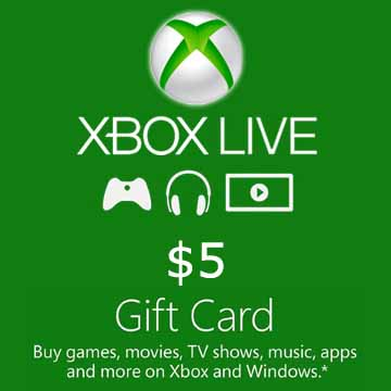 Buy 5 USD Gift Card Xbox Live Code Compare Prices