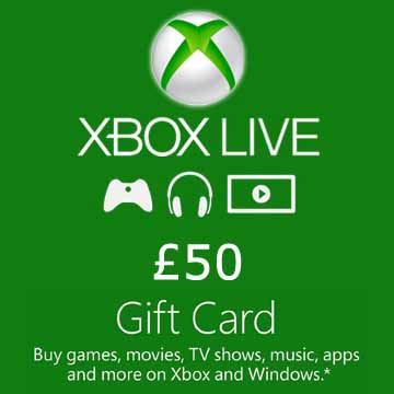 Buy 50 GPB Gift Card Xbox Live Code Compare Prices