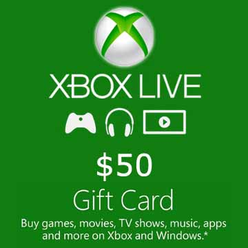 Buy 50 USD Gift Card Xbox Live Code Compare Prices