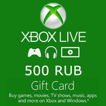 Buy 500 RUB Gift Card Xbox Live Code Compare Prices