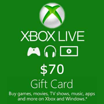 Buy 70 USD Gift Card Xbox Live Code Compare Prices