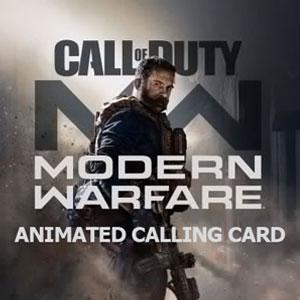 COD Modern Warfare Animated Calling Card