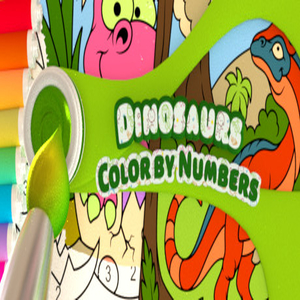 Color by Numbers Dinosaurs