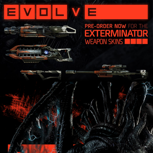 Evolve Exterminator Weapon Skins Pack