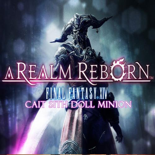 Final Fantasy 14 A Realm Reborn EU Cait Sith Doll Minion