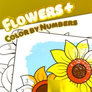 Flowers Color by Numbers Plus