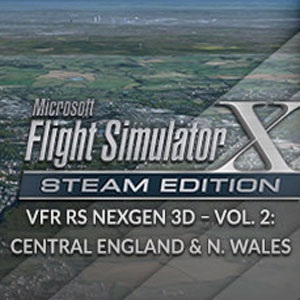 FSX Steam Edition VFR Real Scenery NexGen 3D Vol. 2 Central England and North Wales Add-On