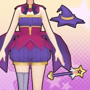 Gal*Gun Double Peace Bewitching Sorceress Costume Set