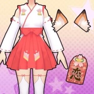 Gal*Gun Double Peace Shrine Maiden Costume Set
