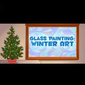 Glass Painting Winter Art