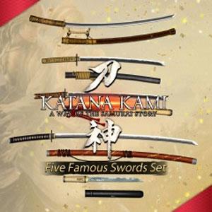 KATANA KAMI A Way of the Samurai Story Five Famous Swords Set