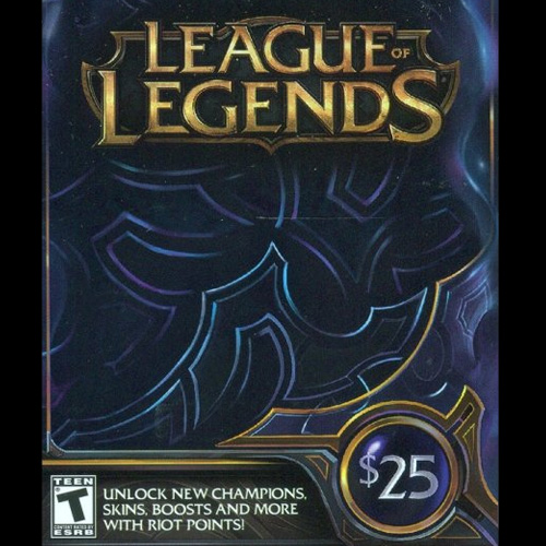 Buy League Of Legends 25 USD 3280 Riot Points US GameCard Code Compare Prices