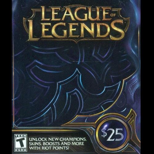 League Of Legends 25 USD 3280 Riot Points US