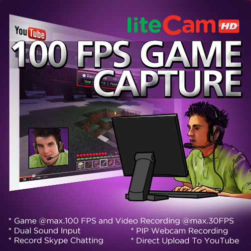 liteCam Game 100 FPS Game Capture