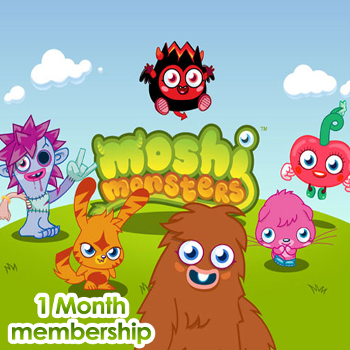 Buy Moshi Monsters 1 Month Memberships GameCard Code Compare Prices