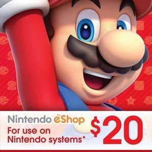 Buy Nintendo eShop Card 20 Dollar CD KEY Compare Prices