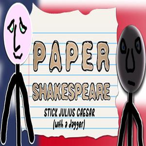 Paper Shakespeare Stick Julius Caesar with dagger