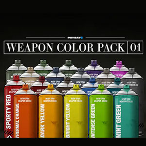 PAYDAY 2 Weapon Color Pack 1