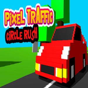Pixel Traffic Circle Rush