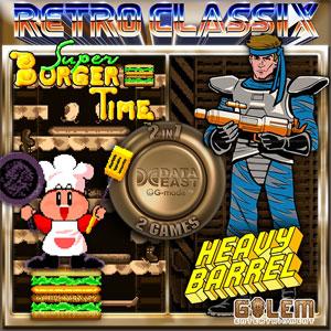 Retro Classix 2-in-1 Heavy Barrel & Super BurgerTime