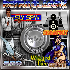 Retro Classix 4-in-1 Pack Sly Spy, Shootout, Wizard Fire & Super Real Darwin