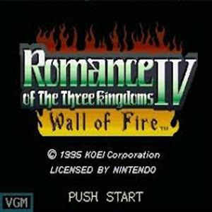 Romance of the Three Kingdoms 4 Wall of Fire