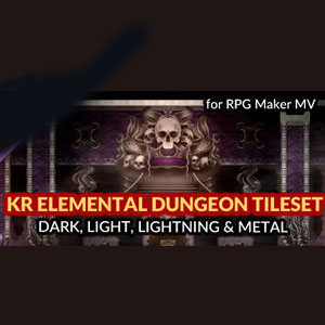 RPG Maker MV KR Elemental Dungeon Tileset Dark Light Lightning Metal