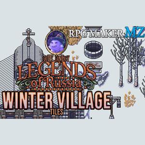 RPG Maker MZ Legends of Russia Winter Village Tiles