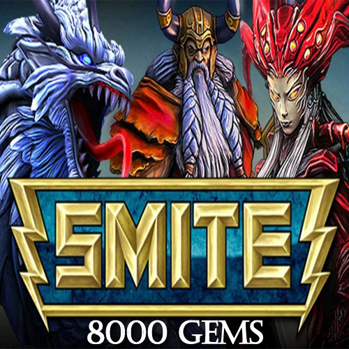 Buy SMITE 8000 Gems GameCard Code Compare Prices