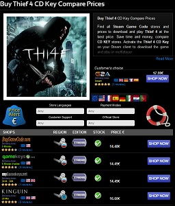 buy thief cdkey best prices