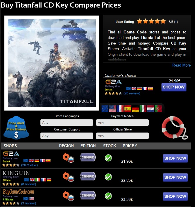 Buy Titanfall CD Key at the best price