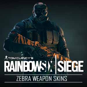 Buy Tom Clancys Rainbow Six Siege Zebra Weapon Skins PS4 Game Code Compare Prices