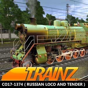 Trainz A New Era CO17-1374 Russian Loco and Tender