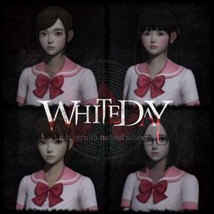 White Day Fashionable School Uniform Set