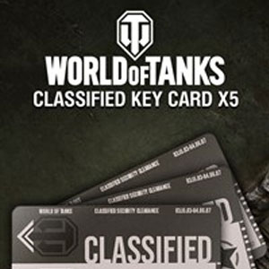 World of Tanks Classified Key Cards