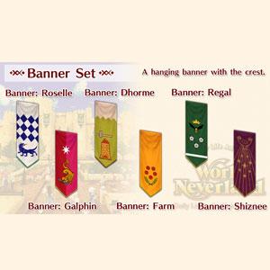 WorldNeverland Elnea Kingdom Banner Set