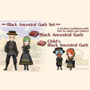 WorldNeverland Elnea Kingdom Black Ancestral Garb Set