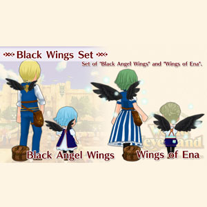 WorldNeverland Elnea Kingdom Black Wings Set